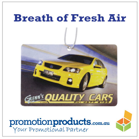 picture of a promotional air freshener