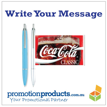 Check out the great branding space on a pen!