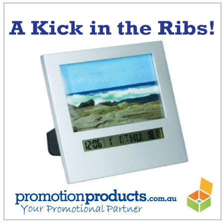 picture of a promotional picture clock