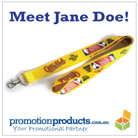 picture of a printed promotional lanyard