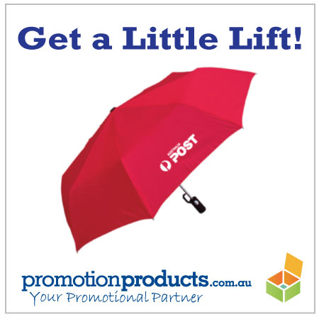 picture of a damned fine promotional umbrella