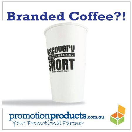 picture of a branded paper cup