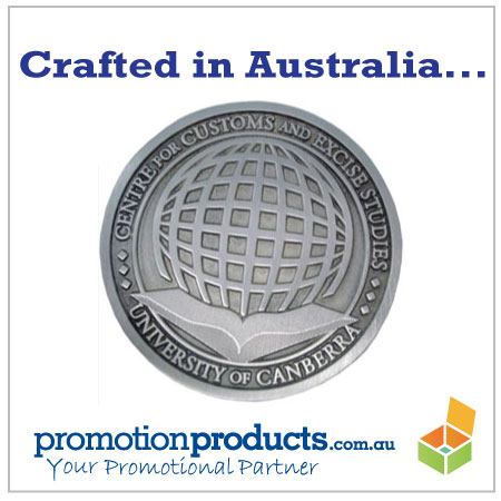 picture of a promotional coaster made from pewter in Australia