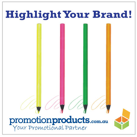 photograph of 4 promotional pencils