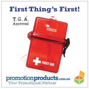 image of a promotional first aid kit