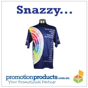 a colourful promotional t shirt