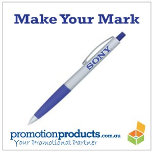 picture of a promotional plastic pen