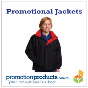 picture of a child wearing a promotional jacket