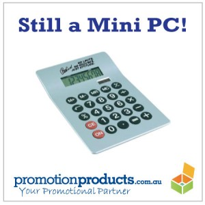 picture of a promotional calculator