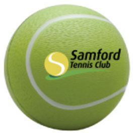 picture of a Samford Tennis Club promotional anti stress ball