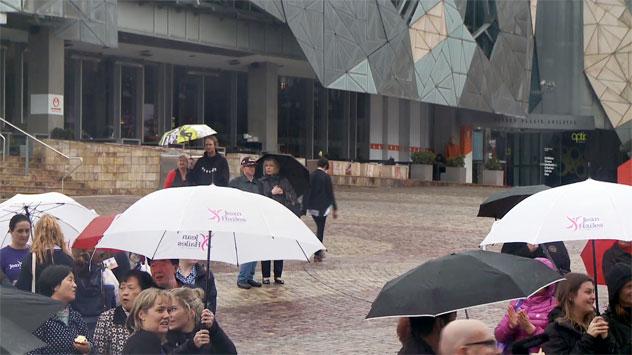 picture of umbrellas in melbourne