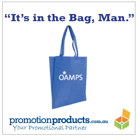 photo of  a branded tote bag