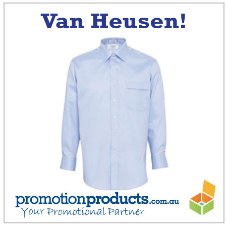 picture of an embroidered van heusen shirt
