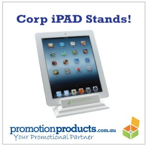 picture of a corporate iPAD stand for promotional purposes