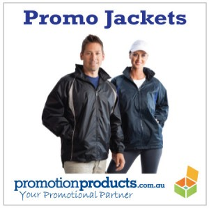 picture of couple wearing promotional jackets