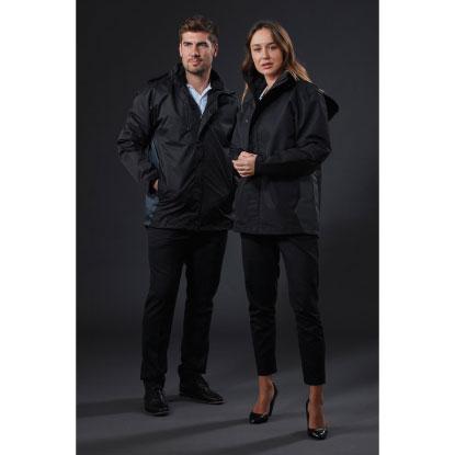 Man and woman wearing jacket