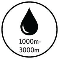 1000 - 3000m ink