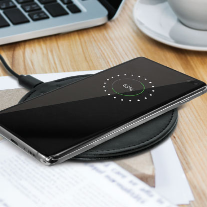 Black promotional wireless charger