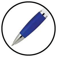Grip on pen barrel