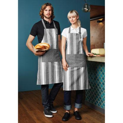 Unisex restaraunt aprons worn by models