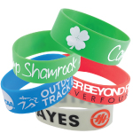 25mm Wide Silicone Wrist Bands