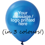 Printed Balloon - Std 3 colour print