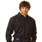 Cool Breeze Long Sleeve Cotton Work Shirts