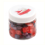 Corporate Coloured Humbugs in Plastic Jar 50G