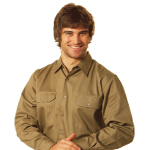 Cotton Drill Long Sleeve Work Shirts