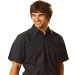 Cotton Drill Short Sleeve Work Shirts