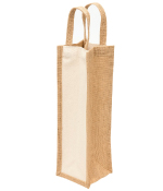 Eco Jute 1 Bottle Wine Bags