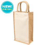 Eco Jute 2 Bottle Wine Bags