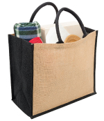 Eco Jute Tote Bags with Wide Gusset