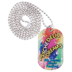 Epoxy Domed Dog Tag Neck Chains