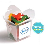 Frosted Noodle Box Filled with Mixed Lollies 100G