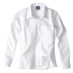 Girls Long Sleeve Brushed Poly Cotton School Blouses