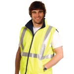 Hi Vis Reversible Safety Vests with 3M Tapes