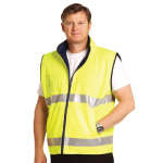 High Visibility Reversible Mandarine Collar Safety Vests