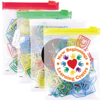 House Paperclips in PVC Zipper Pouches