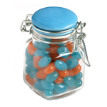 Jelly Beans in Glass Clip Lock Jar 80G