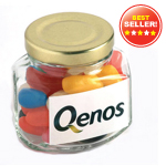 Jelly Beans in Glass Squexagonal Jar 90G