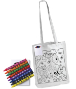 Long Handle Colouring Tote Bags