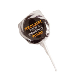 Medium Black Candy Lollipops