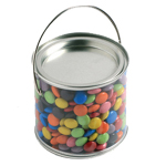 Medium PVC Bucket Filled with Choc Beans 400G
