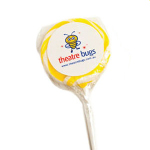 Medium Yellow Candy Lollipops