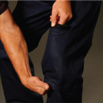 Mens Cotton Drill Cargo Pants With Knee Pads