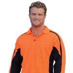 Mens TrueDry Long Sleeves Safety Polos