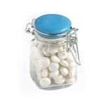 80G Mints in Glass Clip Lock Jar
