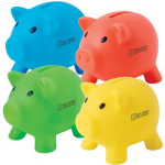 Pee Wee Pig PVC Coin Banks