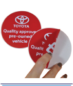 Large Vinyl Double Sided Stickers - 1 Colour